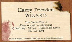 Harry Dresden Calling Card