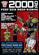 LE - May - FCBD 2000 AD Mega Signing at Orbital Comics