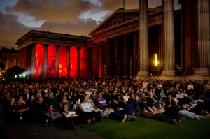 Open air screening at the British Museum