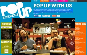 Pop Up Screens Website