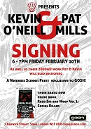 LE - Feb 17 - Pat Mills and Kevin O'Neill 2000 AD 40th Anniversary signing at Gosh!
