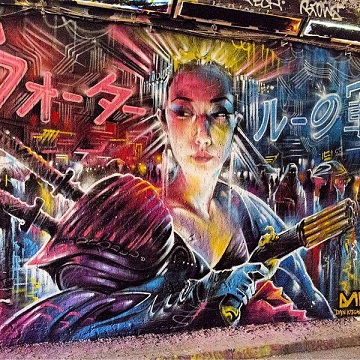 CP - Dan Kitchener - Battle of Waterloo, Leake Street Tunnels - Chrome and Black